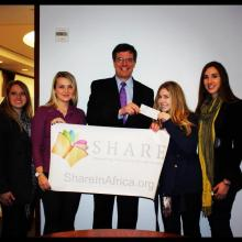 "Heffernan Insurance Brokers donated to ""SHARE in Africa"" to aid with girls education in Tanzania"