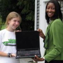 """Lite Depalma donated laptops to improve education conditions for the """"SHARE in Africa"""" girls in Tanzania"""