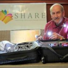 """Terry helped provide light for """"SHARE in Africa"""" schools"""
