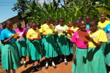 Tanzanian girls for SHARE in Africa and girls' education